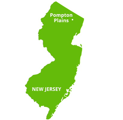 where we service map of new jersey featuring pompton plains
