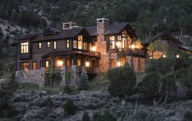 an estate property in the mountains in colorado