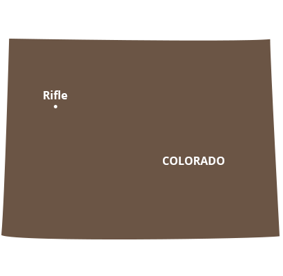 where we service map of colorado featuring rifle