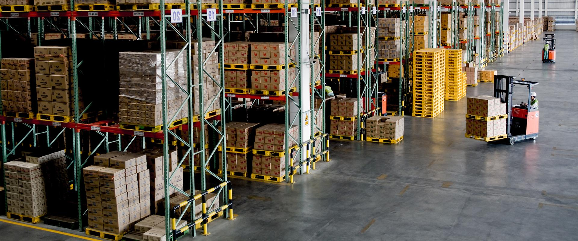 interior of commercial warehouse