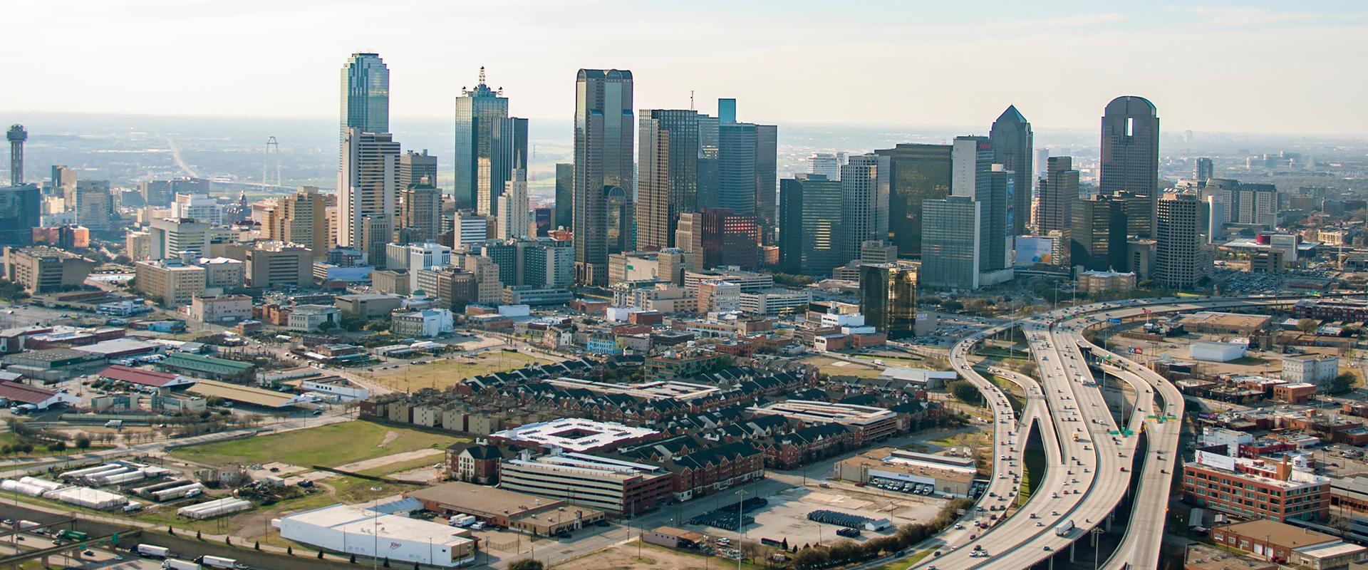 aerial view of dallas tx