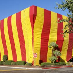 building with fumigation tent