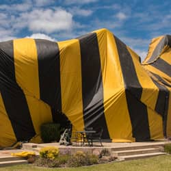 home being prepared for fumigation services