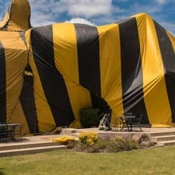 home with fumigation tent