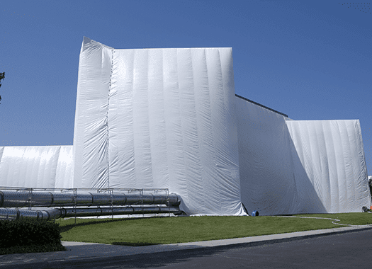 warehouse being fumigated
