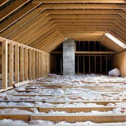 insulated attic in a rhode island home