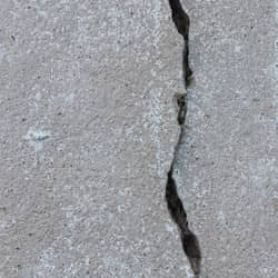 close up image of a cracked foundation