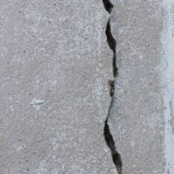 image of a cracked foundation