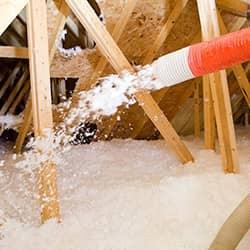 pest control insulation spray in RI attic