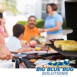 family enjoying a pest free picnic