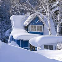 Image Of A Snow Covered Home