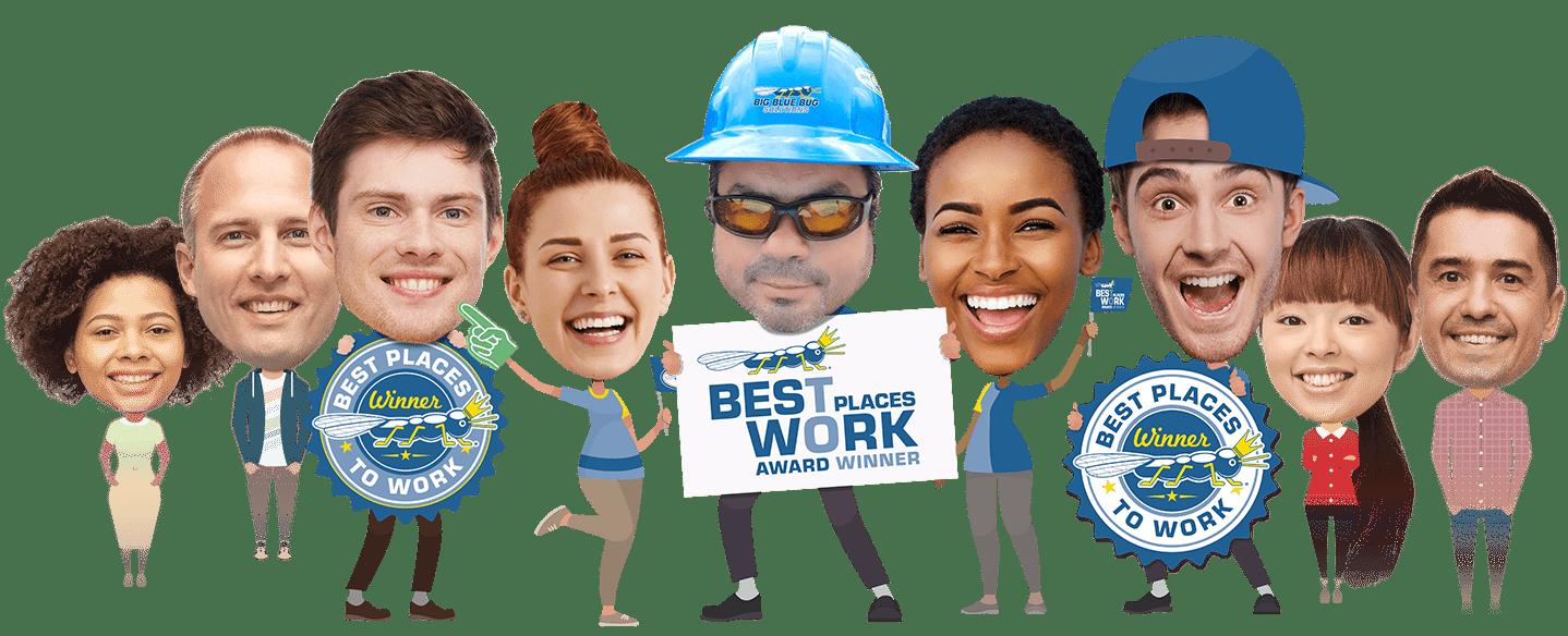big blue bug employees