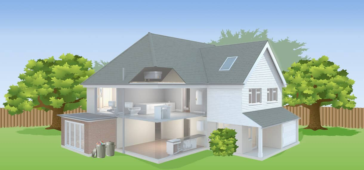 interactive illustration of a home