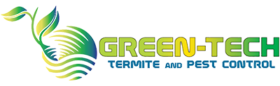green tech termite and pest control logo