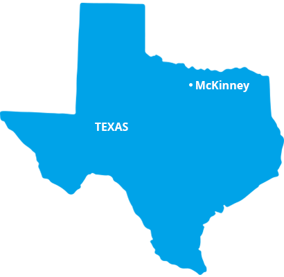 where we service map of texas featuring mckinney