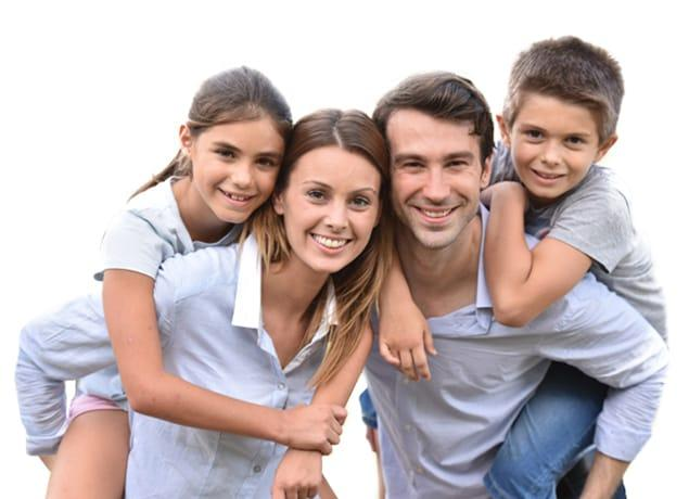 a happy family of four in plano texas