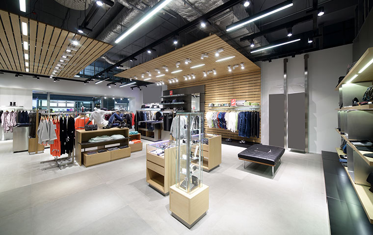 the interior of a retail store