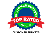 top rated customer survey award logo