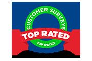 top rated customer survey award logo