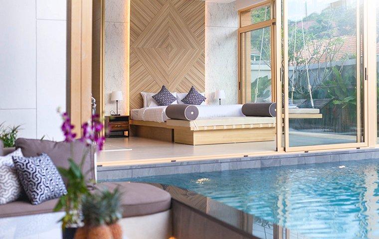 a clean empty hotel room on grand turk island