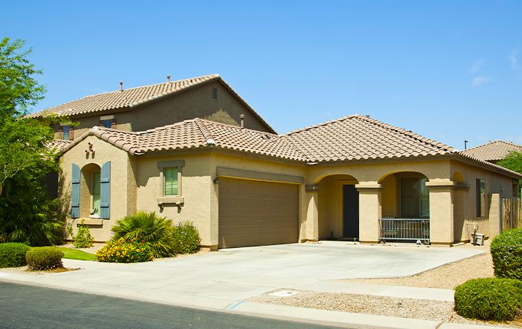 front of a house in gilbert arizona