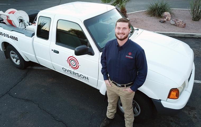 technician and truck in mesa arizona