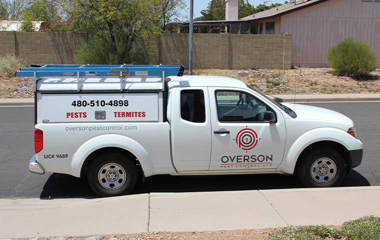 a company van pulling up to house in mesa arizona