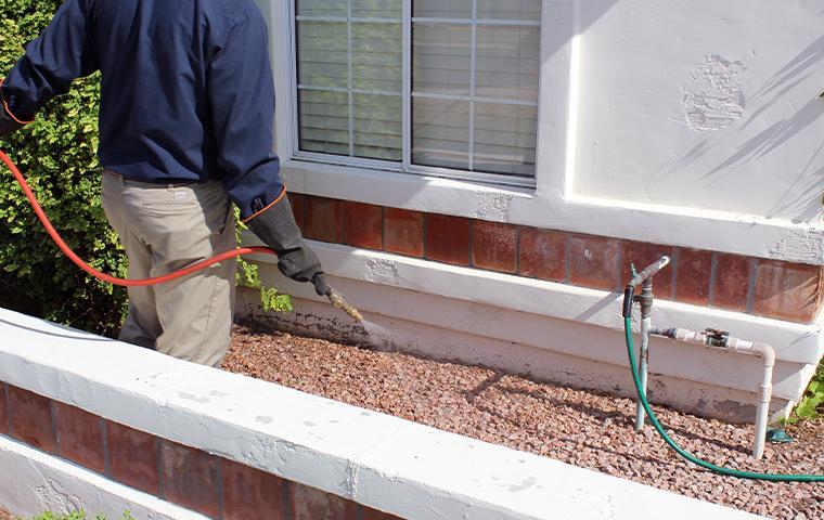 technician treating exterior in mesa arizona