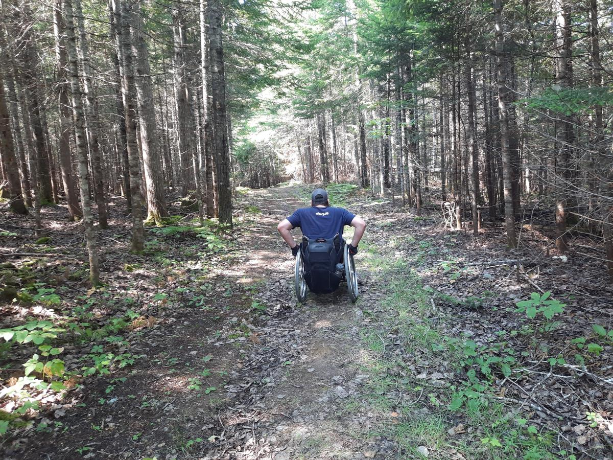 Trail surface on the way to the lake. Photo credit: Enock Glidden