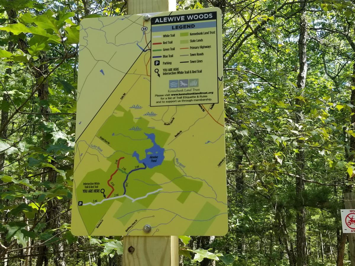 Map showing Enock's location on the trails. Photo credit: Enock Glidden