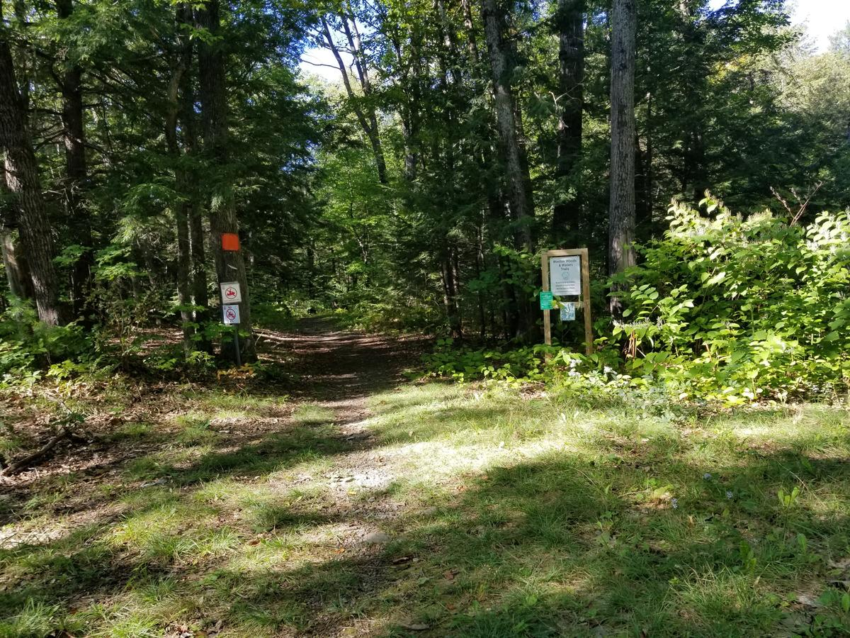 The official entrance to the trail system. Photo credit: Enock Glidden
