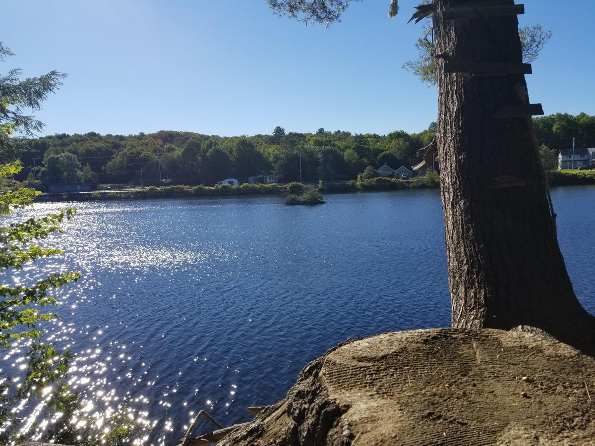 View of the Kennebec River from the trail. Photo credit: Enock Glidden