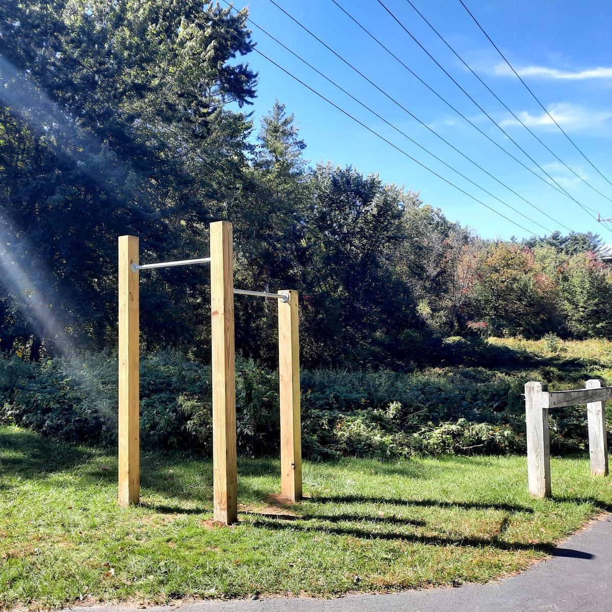 Exercise station along the Bethel Pathway. Photo credit: Enock Glidden
