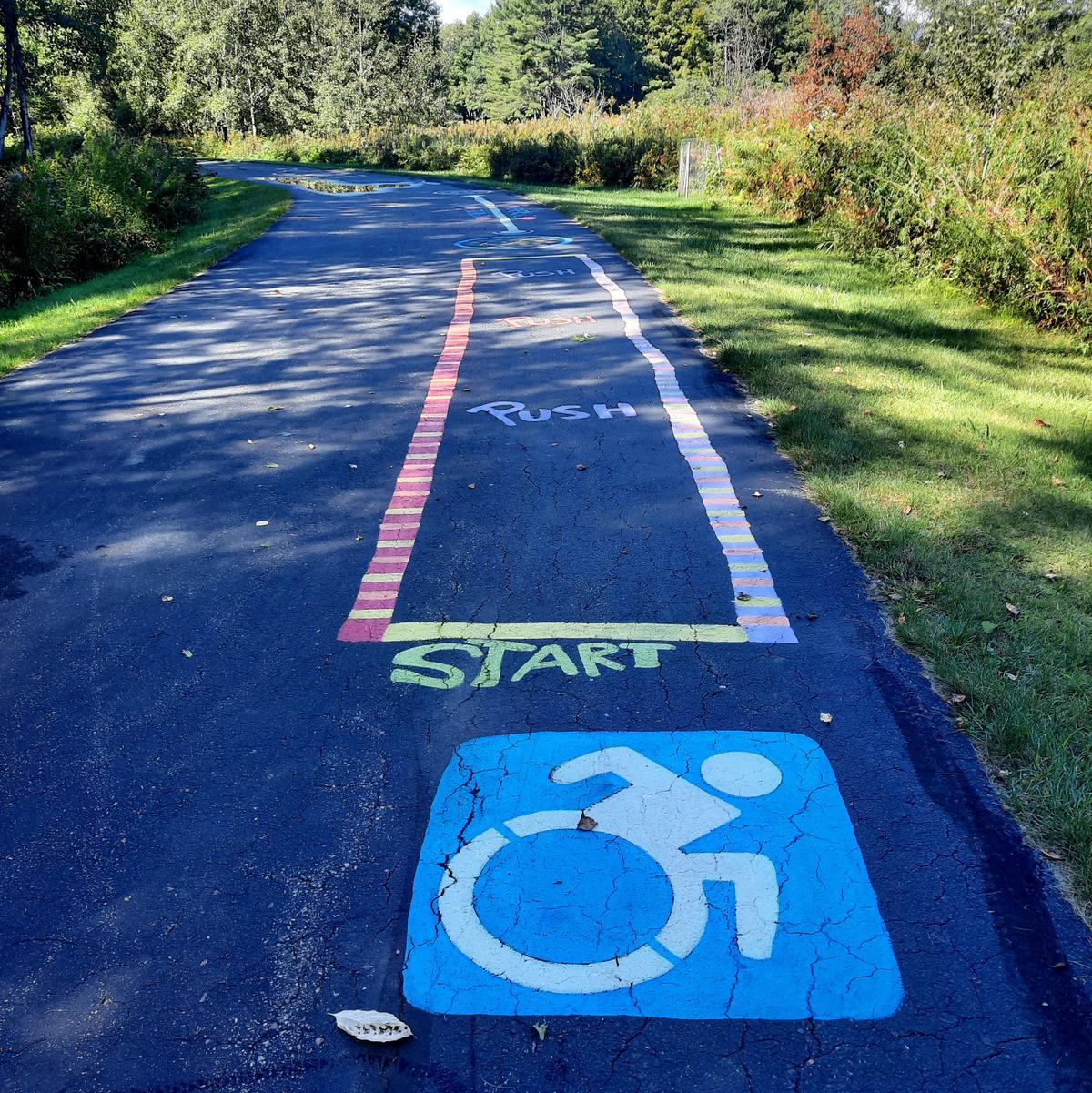 The start of the wheelchair course. Photo credit: Enock Glidden