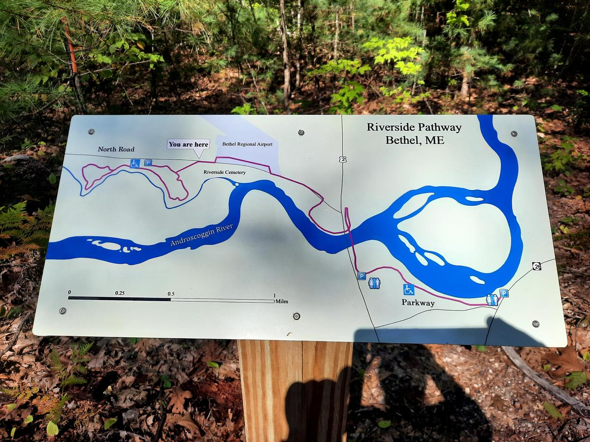 A map showing how the Bethel Pathway now links to the Valentine Farm. Photo credit: Enock Glidden