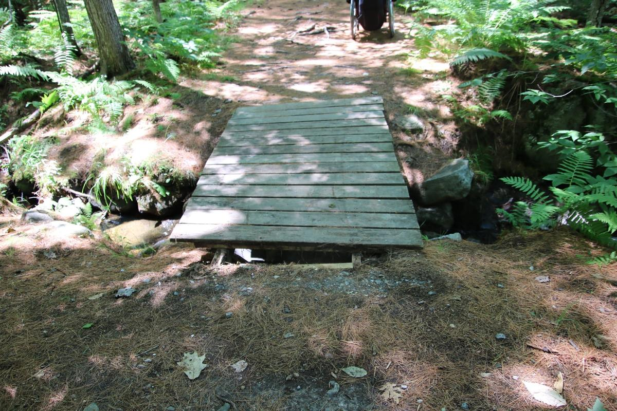 A gap in the decking could cause issues for a wheelchair user.