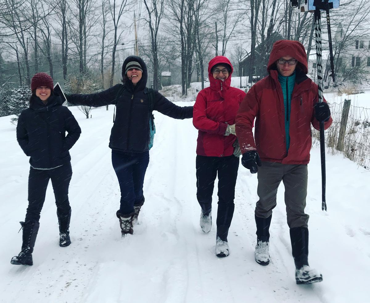 Rain, snow or shine - get out and walk!