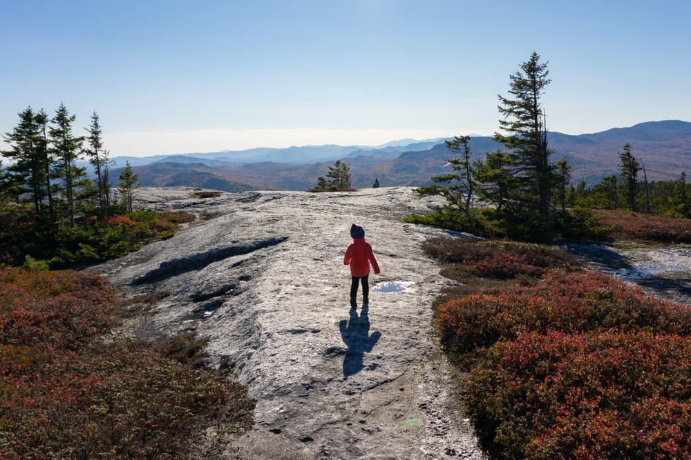 Hiking on Rumford Whitecap. Photo credit: Andrew Bertino