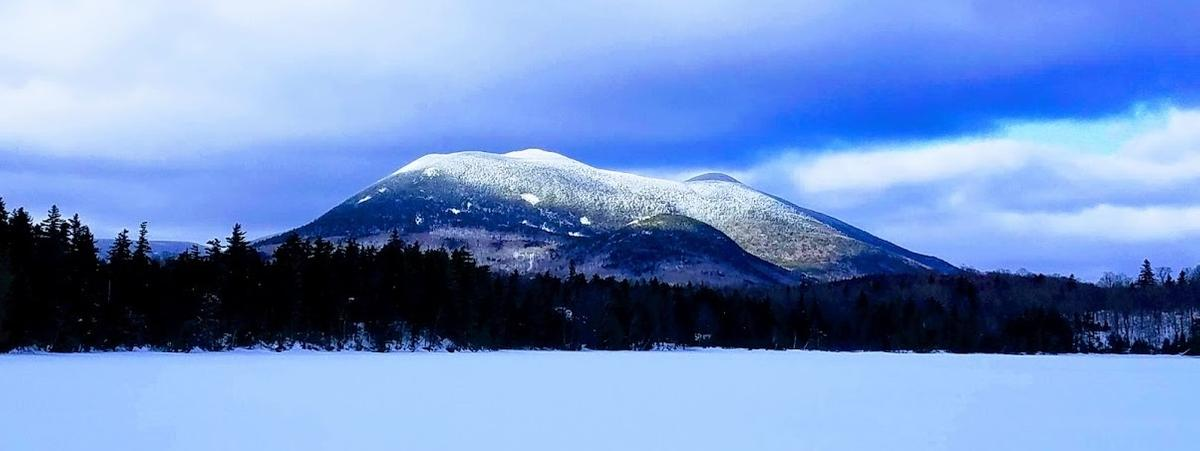Baker Mountain from Mountain View Pond, Photo credit: Steve Tatko