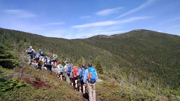 Berry Pickers Trail to Saddleback and The Horn via the A.T.