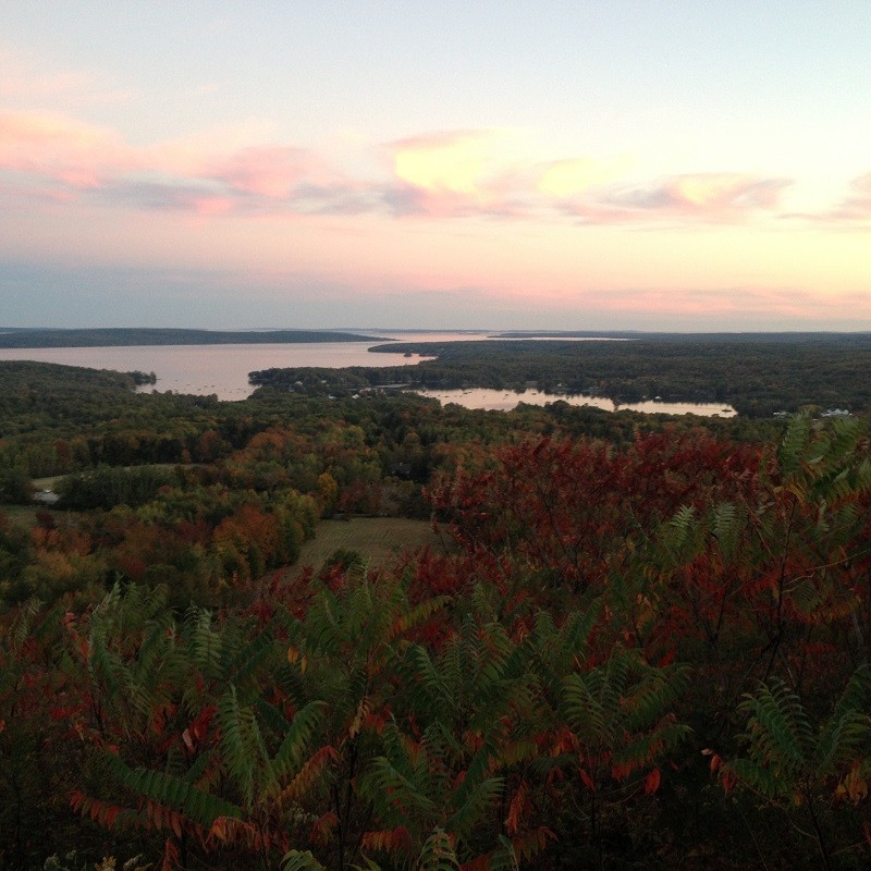 Sunset over the Blue Hill Peninsula (Credit: Blue Hill Heritage Trust)