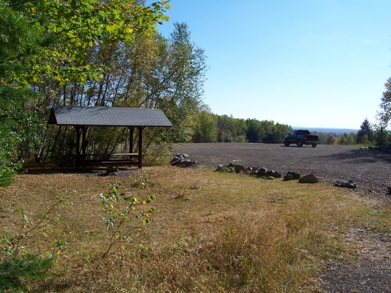 Sheltered picnic area at the trailhead (Credit: Aroostook Outdoor)
