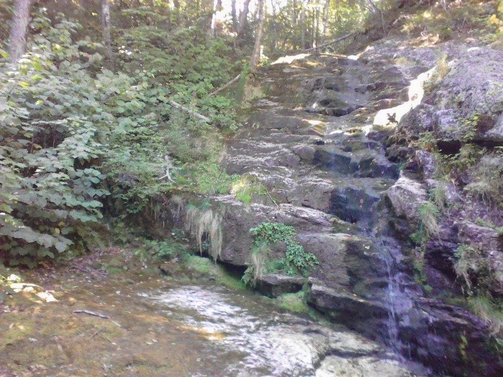 In late summer this is a small waterfall, early spring it is much more impressive (Credit: Lisa C)