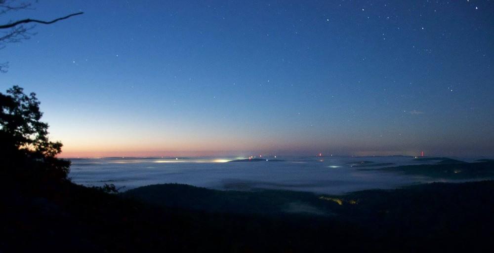 Sunrise from the ledges on Noyes Mountain (Credit: Carl Costanzi)