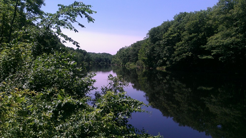Upriver from the Lower Dam (Credit: Jean-Luc Theriault)