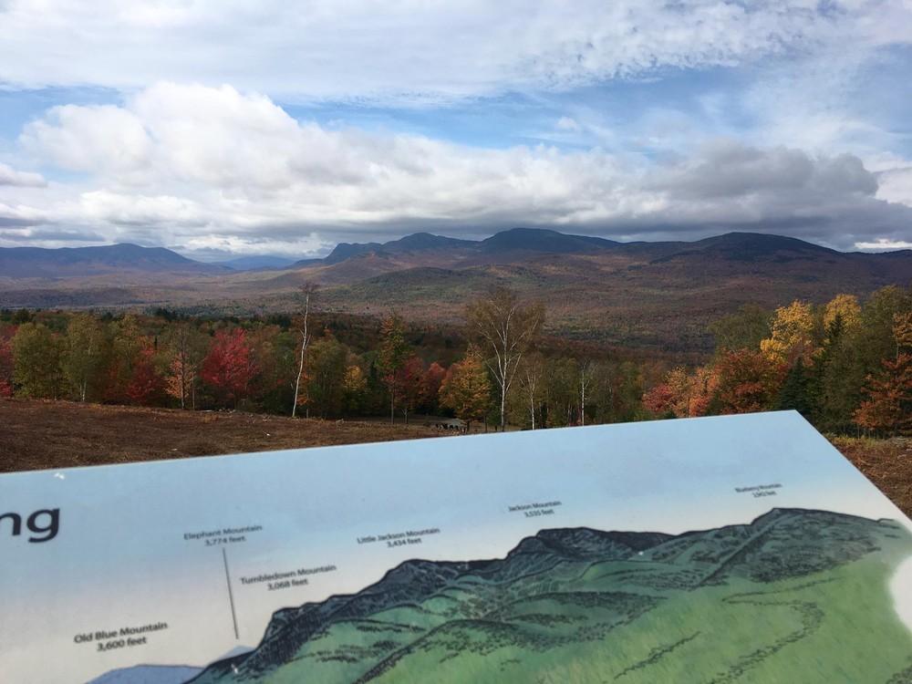 Jackson Mt. Ridgeline seen from Mt. Blue (Credit: Robert Ratford)