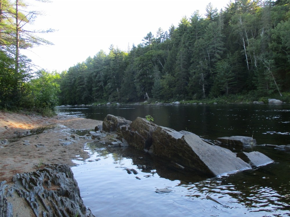 A small sand beach on the East Branch Penobscot River (Credit: Evan Watson)