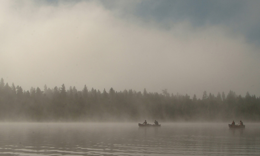 Canoes on the Allagash Wilderness Waterway (Credit: Maine Bureau of Parks and Lands)