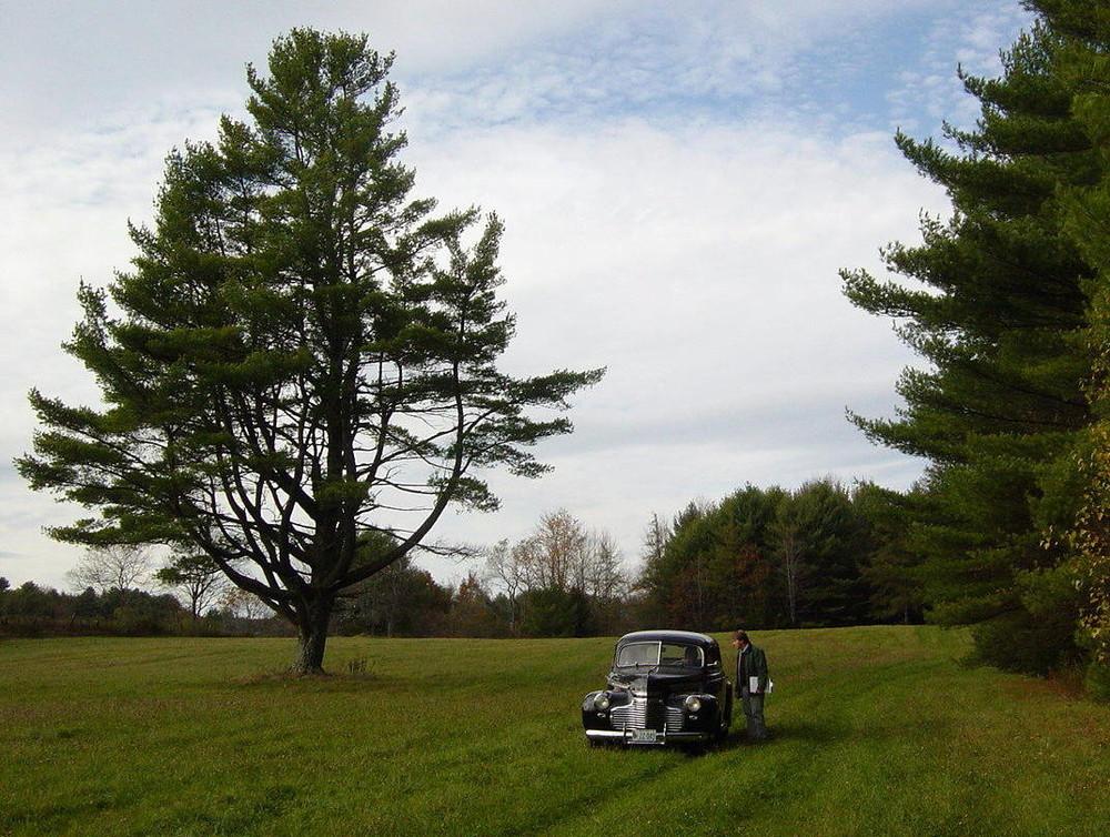 Antique auto at Chandler Brook Preserve