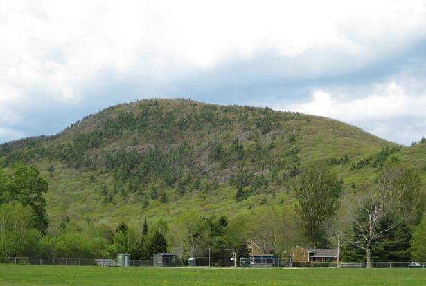 View of Bald Mountain from Camden Snow Bowl (Credit: Coastal Mountains Land Trust)